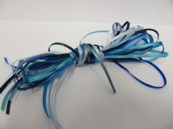 10 x 1 metre lengths assorted satin ribbon, Double Sided 3mm BLUE ONLY
